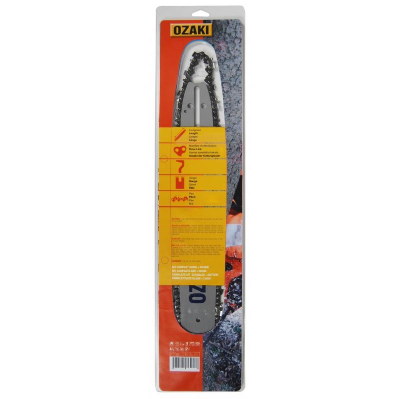 """Espada 2 cadenas adecuado para dolmar ps7910 40 cm 3//8/"""" 60 TG 1,5 mm sierra cadena"""