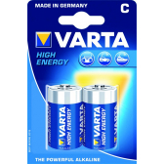Pack 2 pilas alcalinas VARTA 1,5V tipo C LR14