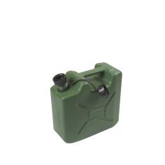 Bidón de plástico verde US con boquilla 5L