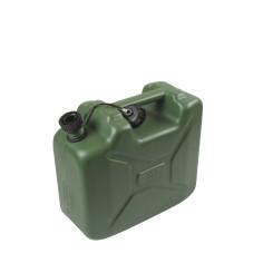 Bidón de plástico verde US con boquilla 10L