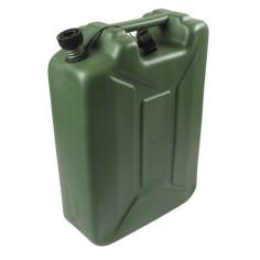 Bidón de plástico verde US con boquilla 20L