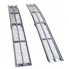 Set de 2 rampas de aluminio plegables 225 X 31 cm - 600 Kg