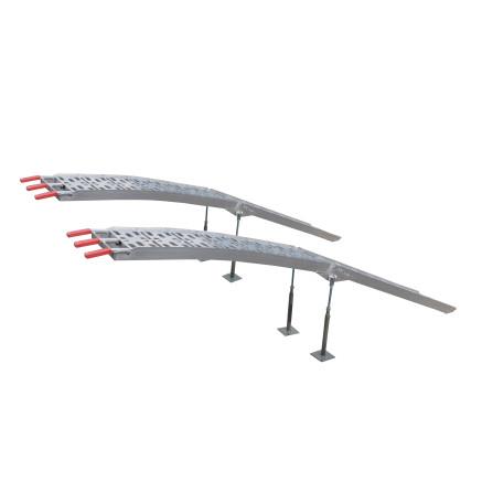 Conjunto de 2 rampas plegables de aluminio 910 Kg/par