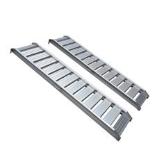 Conjunto de 2 rampas rectas de aluminio 1.600 Kg/par