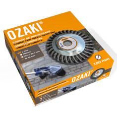 Cabezal de cepillo metálico OZAKI para desbrozadoras