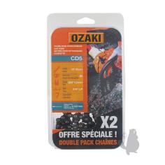 "CD5X2 2 Cadenas motosierra OZAKI CD5 3/8"" LP .050""-1,3 mm 52E"