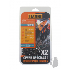 "CD42X2 2 Cadenas motosierra OZAKI CD42 3/8"" LP .050""-1,3 mm 56E"