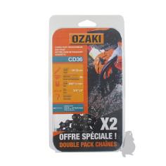 "CD36X2 2 Cadenas motosierra OZAKI CD36 3/8"" LP .043""-1,1 mm 50E"