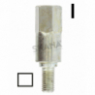 Adaptador cuadrado 5,1 mm
