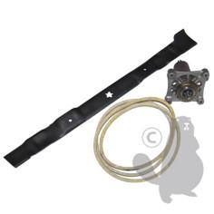 KITA001 Conjunto cuchilla, correa trapecial y soporte cuchilla para AYP