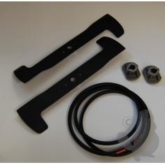 KIT092CM Conjunto cuchilla, correa trapecial y soporte cuchilla para CASTELGARDEN